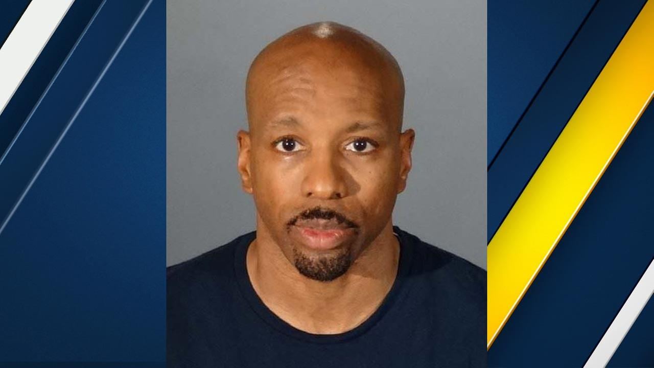 Daniel Holbert, 48, is seen in a booking photo from the Los Angeles County Sheriffs Department.