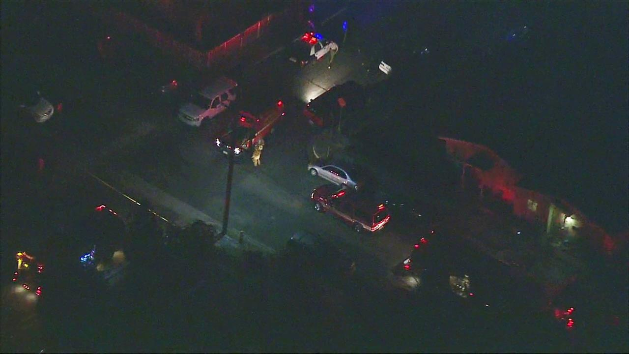 Firefighters and sheriffs personnel responded after a deputy-involved shooting in Compton on Thursday, Aug. 25, 2016.