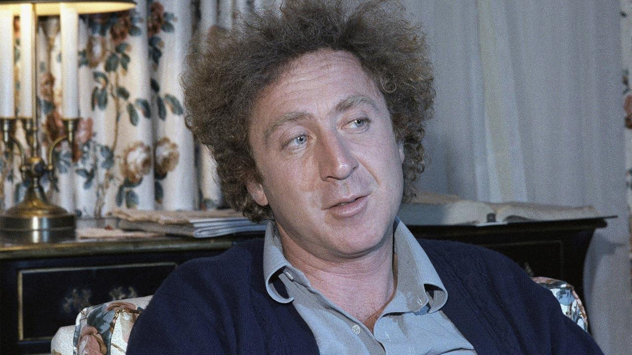 Actor Gene Wilder is shown during an interview with Jean Claude Bouis at his New York City Hotel on Dec. 9, 1977.