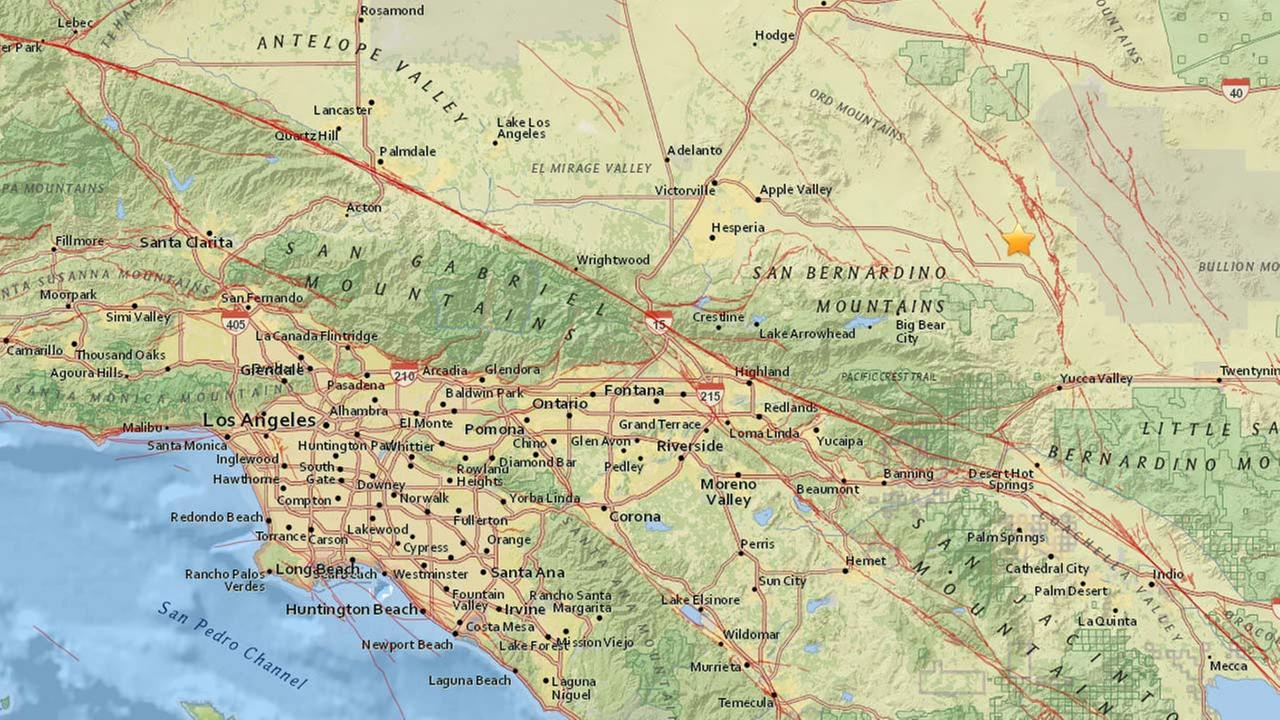 A 3.4-magnitude earthquake struck near Big Bear in San Bernardino County on Tuesday, Aug. 30, 2016, according to the USGS.