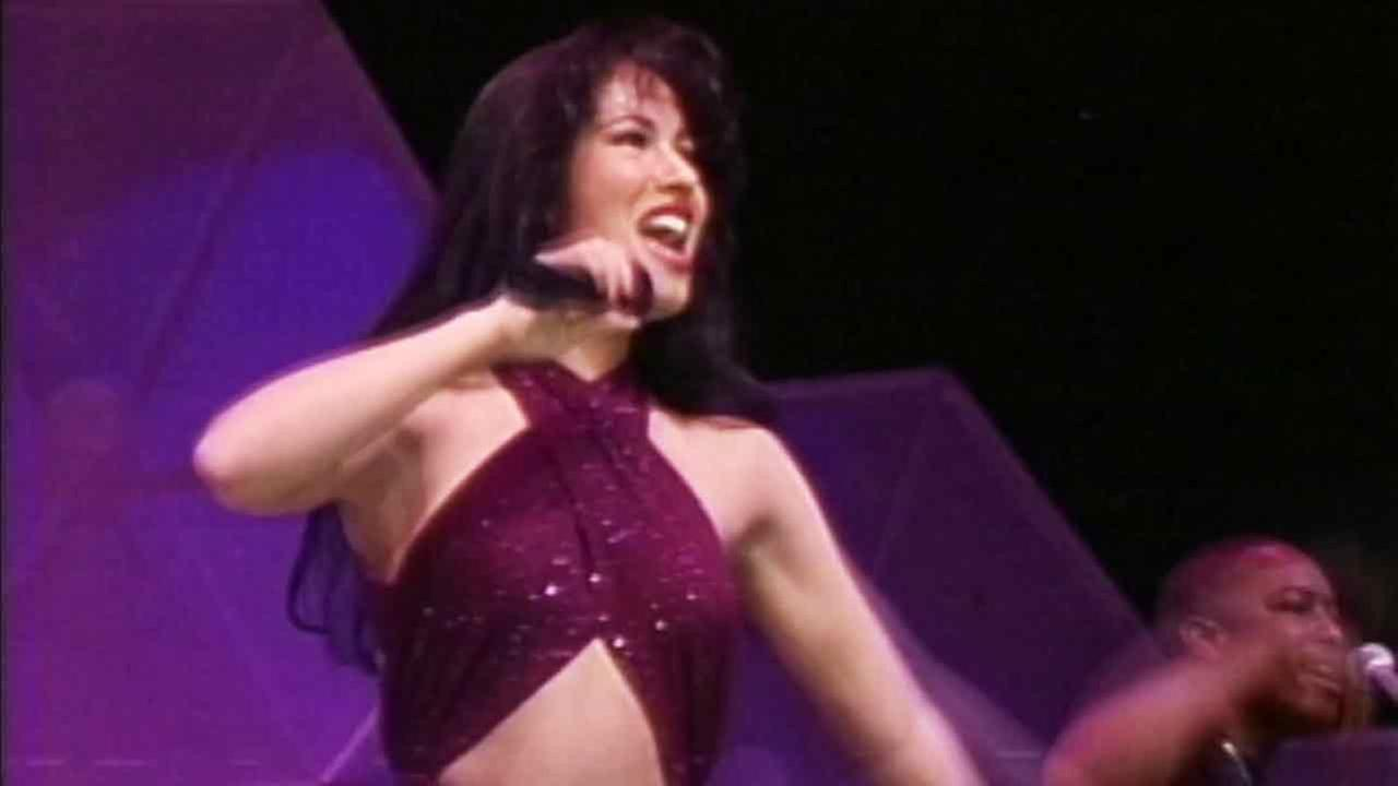 Late singer Selena Quintanilla performs at a concert in an undated photo.