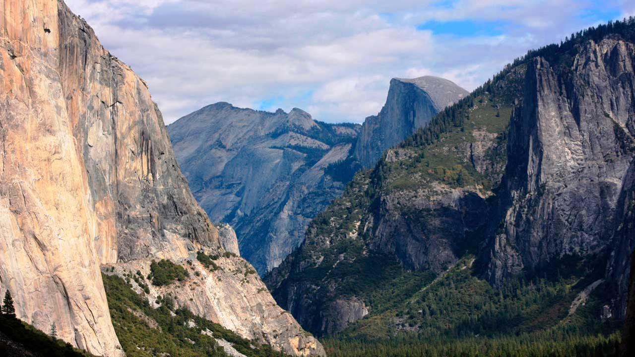 This Oct. 2, 2013, file photo, shows a view seen on the way to Glacier Point trail in the Yosemite National Park, Calif.