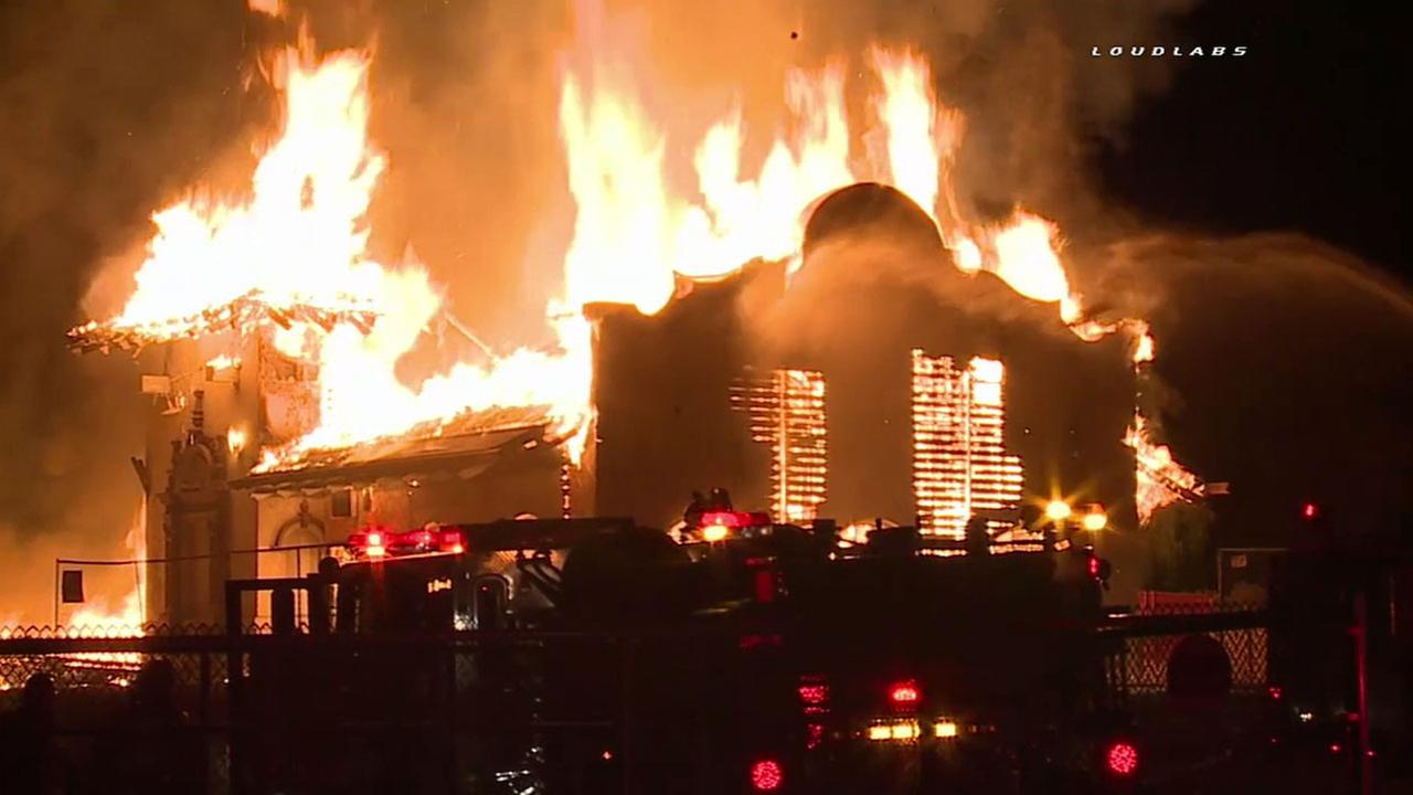 Historic railroad depot in Long Beach destroyed by fire