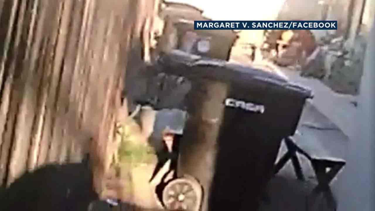 Video posted to Facebook shows a Hemet father allegedly beating his 12-year-old son on Thursday, Sept. 15, 2016.