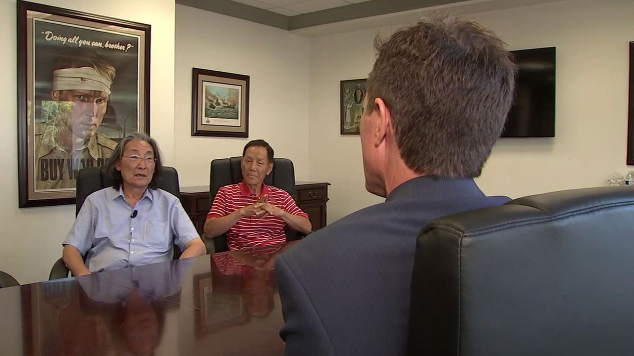 Two former Grand Central Market vendors, Soo Hwan Kim and Bo Soo Jo, speak with ABC7 reporter Rob Hayes about their lawsuit against the market.