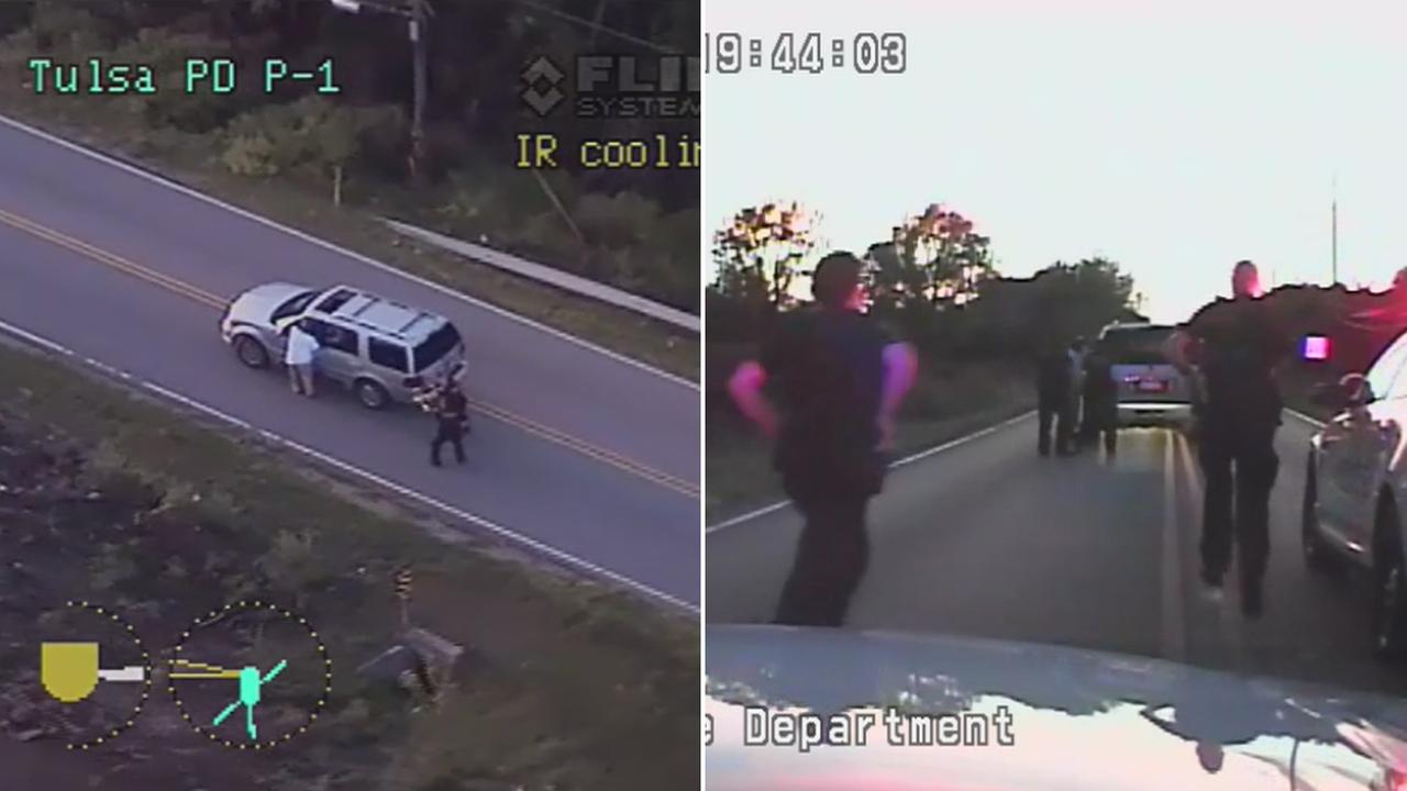Officials said Tulsa police shot and killed 40-year-old Terence Crutcher, an unarmed black man, on Friday Sept. 16, 2016.