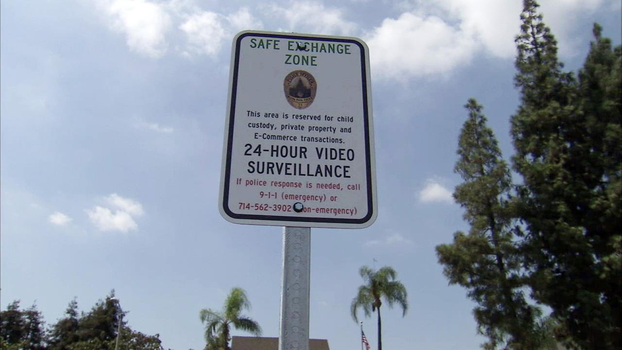 The safe exchange zone was established at the Buena Park Police Department to deter scammers from targeting sellers and buyers in person.