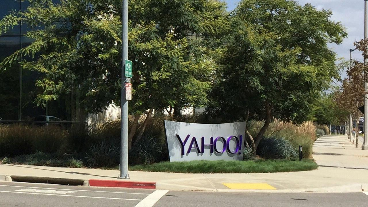 The front of the Yahoo! corporate building in Playa Vista is shown in a file photo.