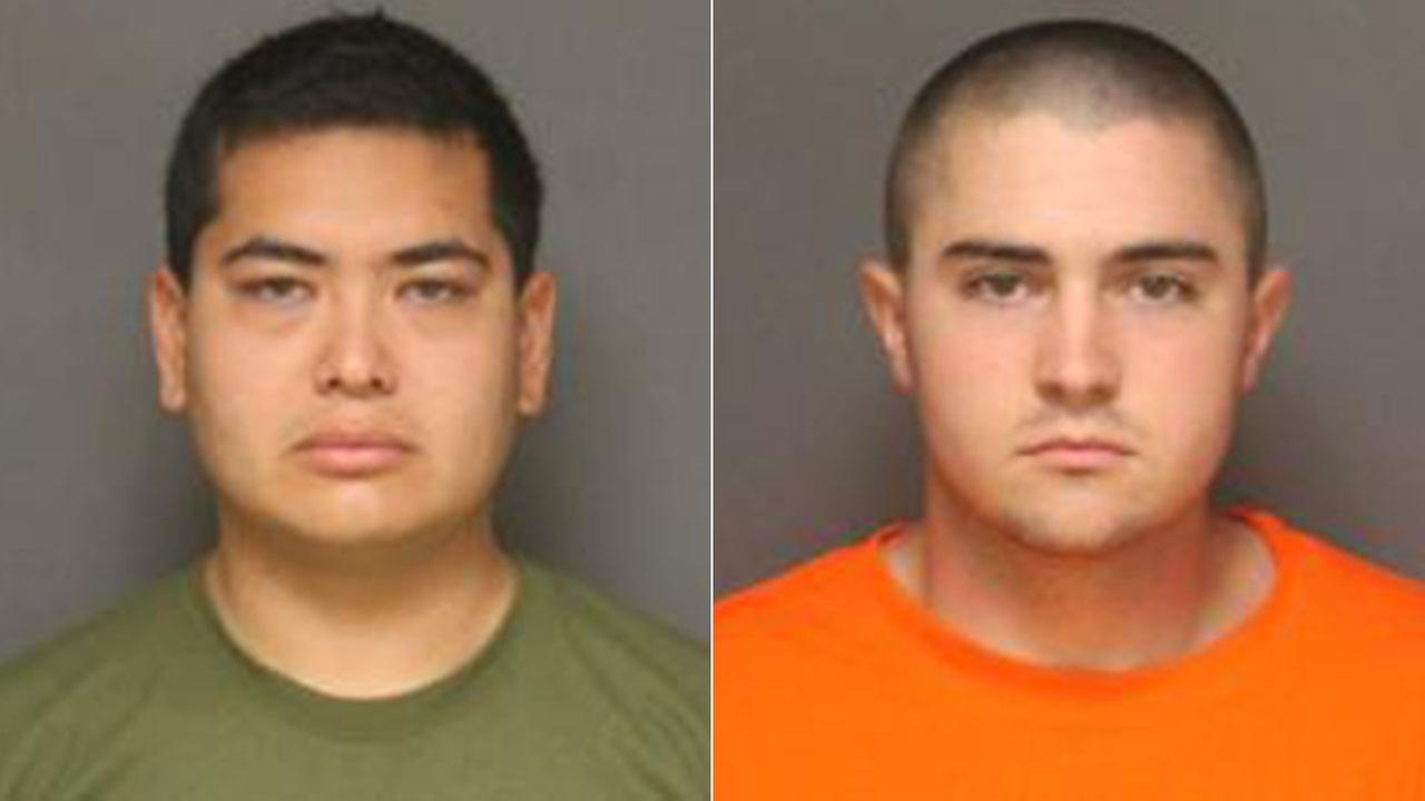 Frank Felix (left), of Sun Valley and Josh Acosta (right), of Fort Irwin, have been arrested in the murders of three people in Fullerton.