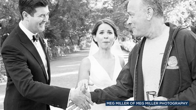 Tom Hanks Is Seen Surprising Bride And Groom Elizabeth Ryan At Central Park