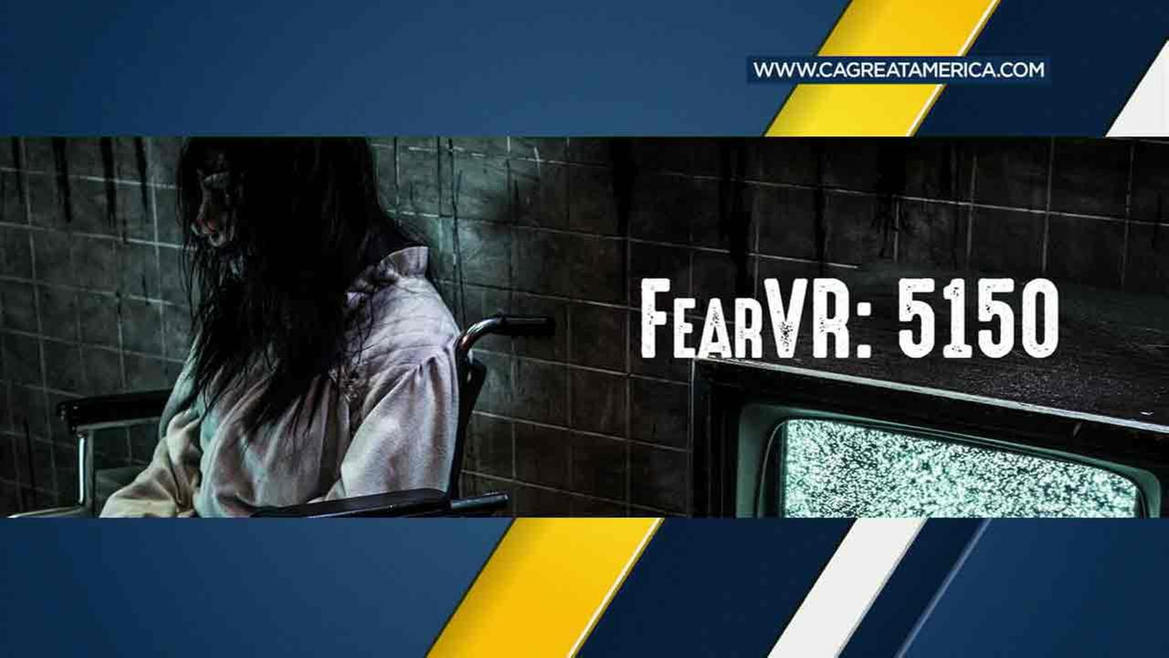 An advertisement of FearVR, a Halloween attraction at Knotts Berry Farm that is closing Wednesday, Sept. 28, 2016, after backlash from park fans.