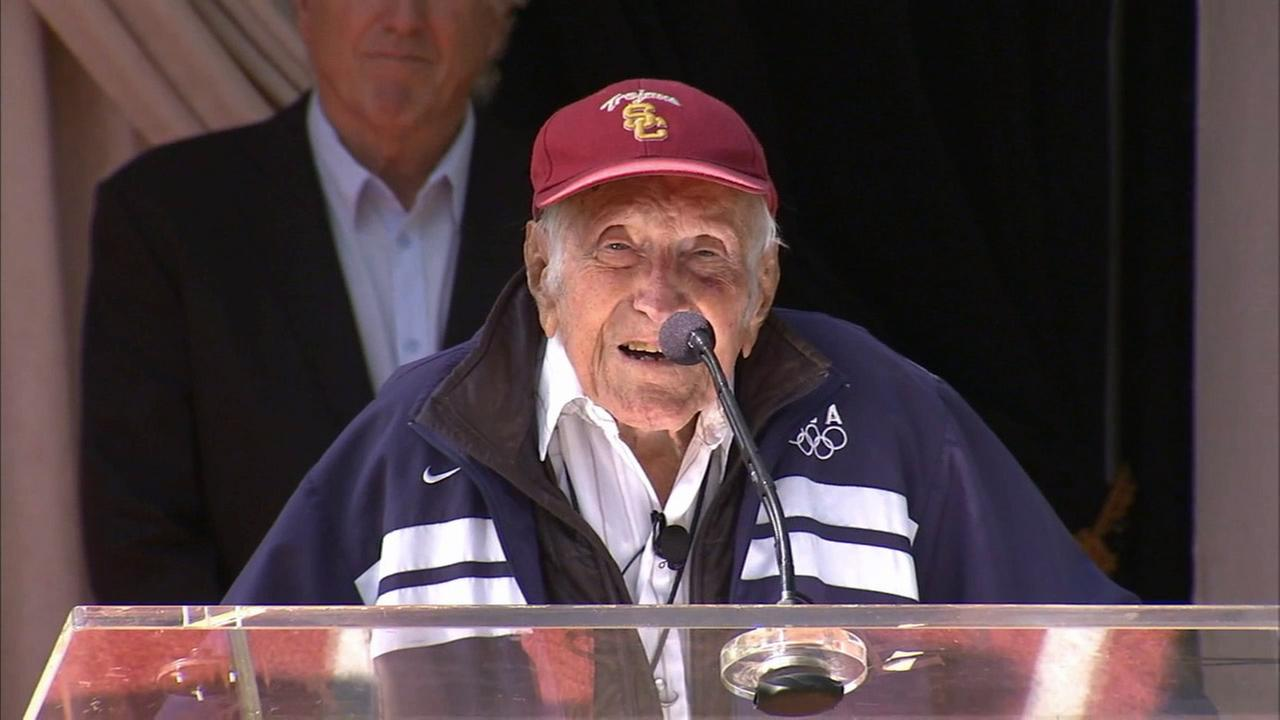 Louis Zamperini, a local war hero and Olympian, died of pneumonia on Wednesday, July 2, 2014. He was 97.