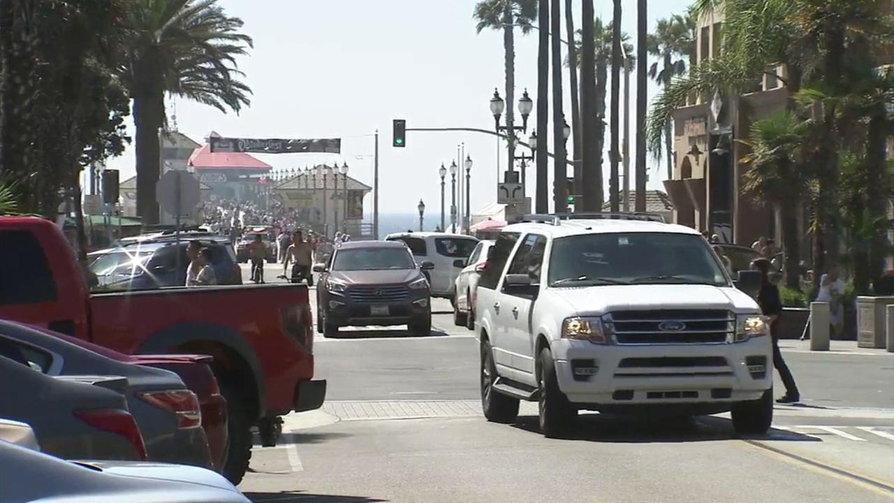 Main Street in downtown Huntington Beach is shown in a photo taken on Friday, Sept. 30, 2016.