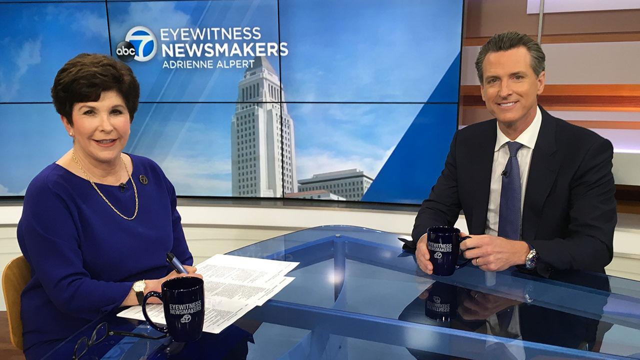 Lt. Gov. Gavin Newsom appeared on Eyewitness Newsmakers to discuss measures for gun control and legalizing marijuana.