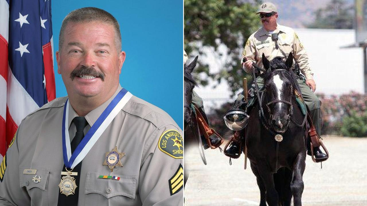 Sgt. Steve Owen was shot and killed by a burglary suspect on Wednesday, Oct. 5, 2016, according to the Los Angeles County Sheriffs Department.