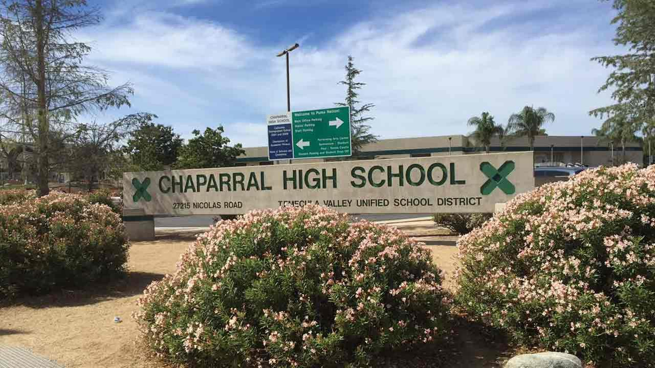 Chaparral High School in Temecula seen nearly vacant after a creepy clown threat on Friday, Oct. 7, 2016.