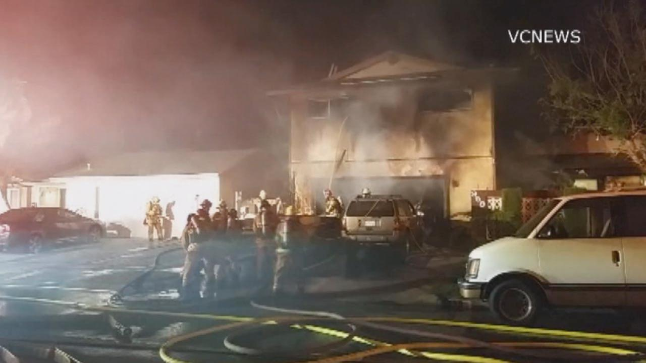 The Ventura City Fire Department responded to a fire on the 900 block of Burlington Avenue on June 29, 2014.