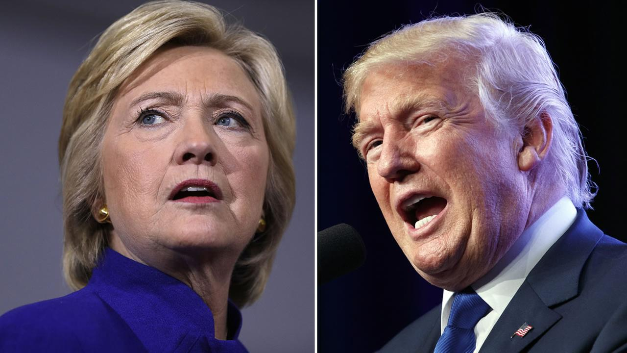 Hillary Clinton and Donald Trump face off in their second presidential debate on Sunday, Oct. 9, 2016.