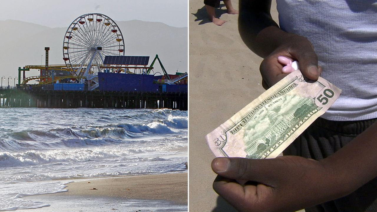 A Hidden Cash scavenger hunt was set to take place in Santa Monica on Sunday, Oct. 9, 2016.