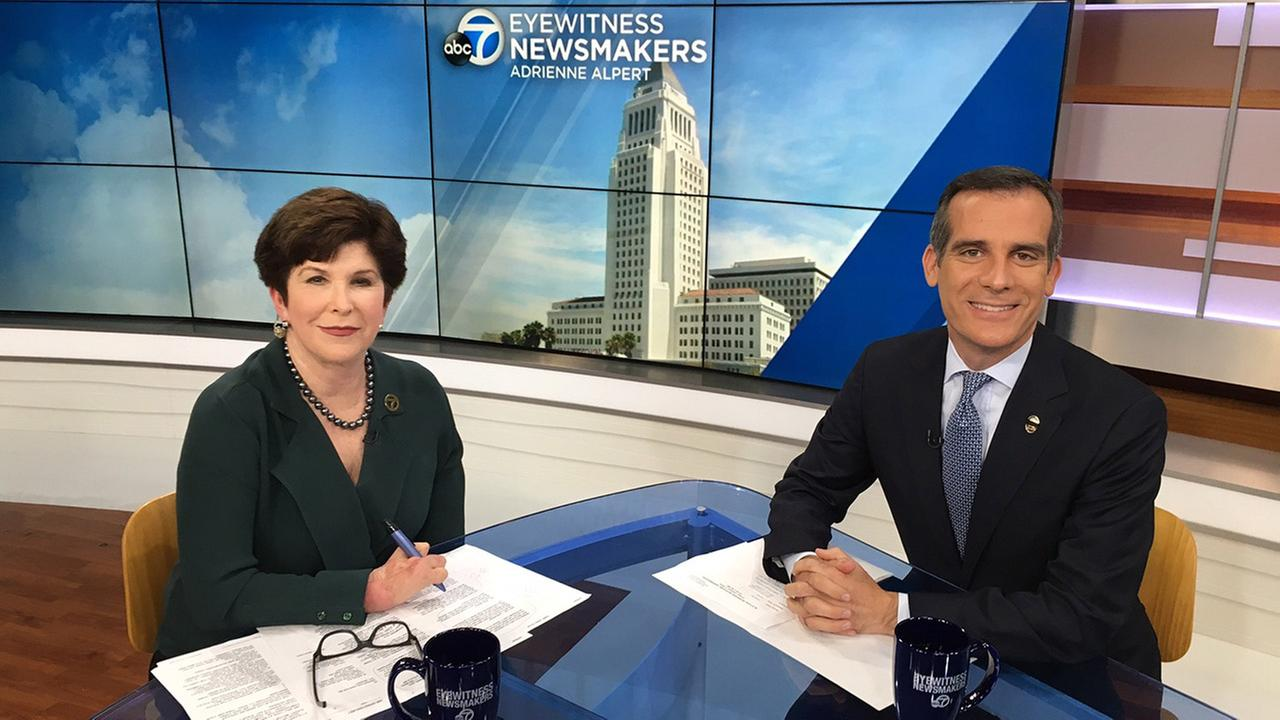 Los Angeles Mayor Eric Garcetti joins ABC7s Adrienne Alpert on Eyewitness Newsmakers.