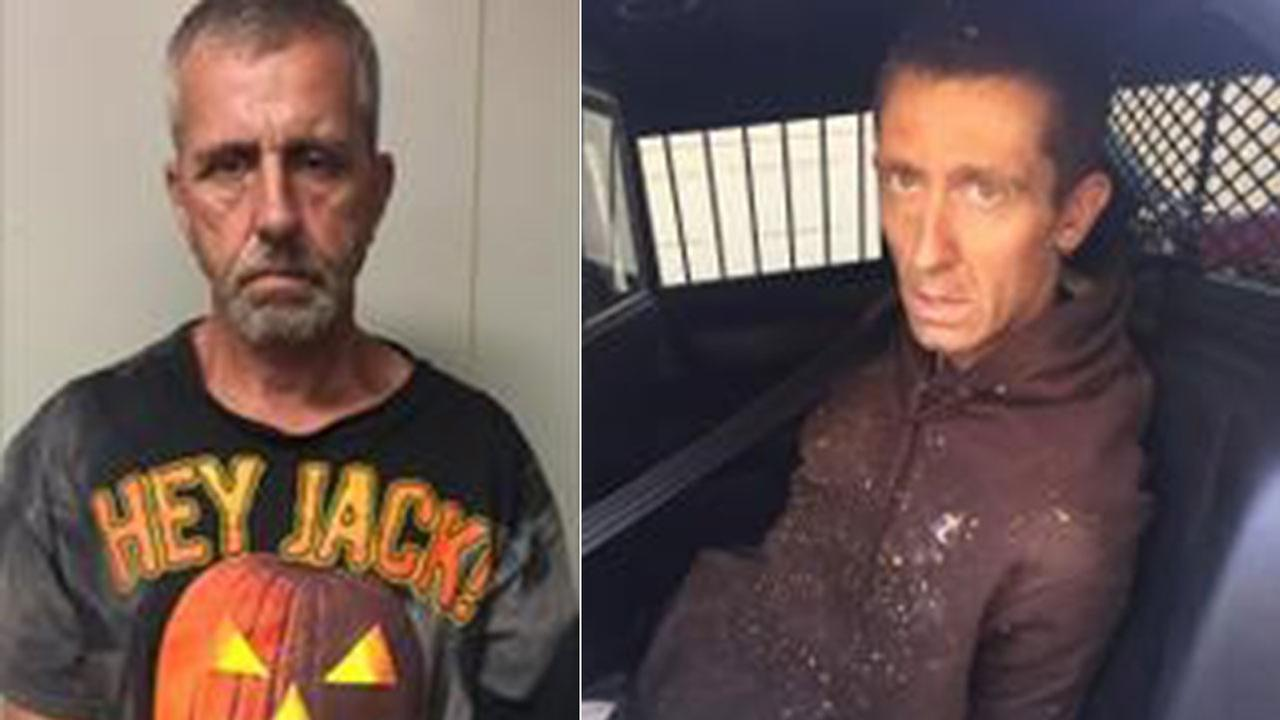 Deputies arrested Joshua Steven Medlock, 34, (right) of San Bernardino, for sexual assault and Jeffrey Lyle Olney, 52, of Mentone, for noncompliance with sex offender registration.