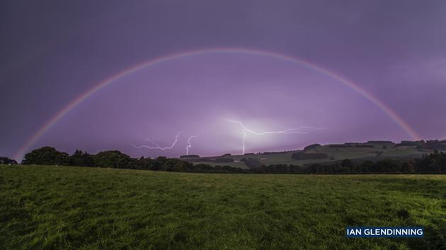 Ian Glendinning captured a lunar rainbow, or moonbow, over Northumberland, United Kingdom, on Sept. 16, 2016.