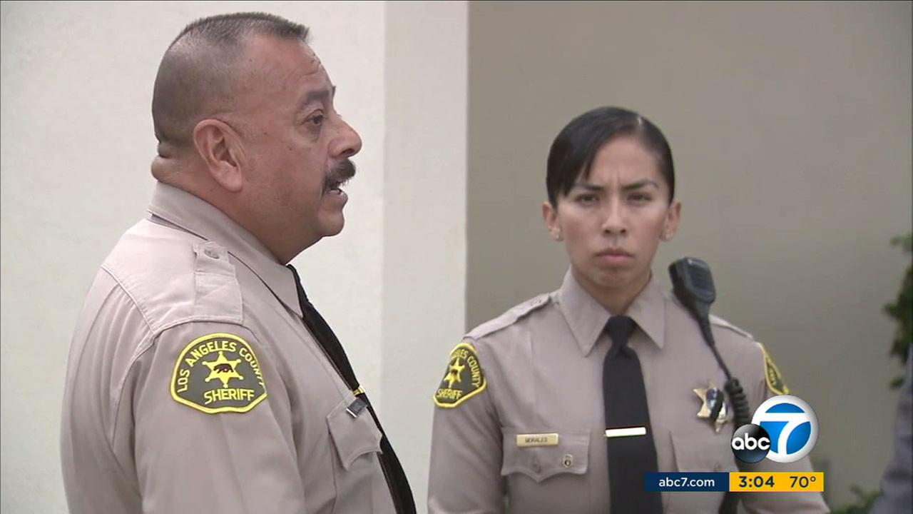 Los Angeles deputies Orlando Macias and Jacqueline Morales are being hailed as heroes for putting their lives at risk to save an elderly San Gabriel couple from a fire.