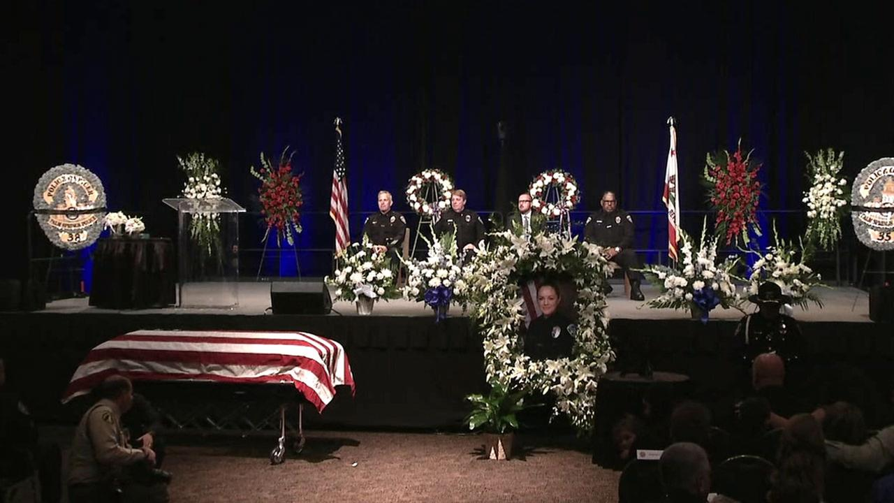 Thousands of people attended a memorial held for fallen Palm Springs officers Jose Gilbert Vega and Lesley Zerebny on Tuesday, Oct. 18, 2016.