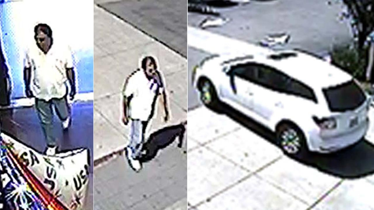 The Los Angeles Police Department released surveillance photos in connection with the robbery of a 92-year-old woman in Montecito Heights in July 2016.