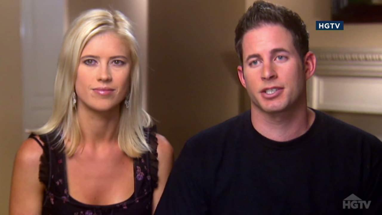 Tarek and Christina El Moussa are seen in an image from their HGTV show, Flip or Flop.