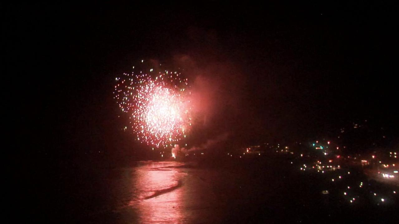 Fireworks burst over Laguna Beach during Independence Day celebrations on Friday, July 4, 2014.