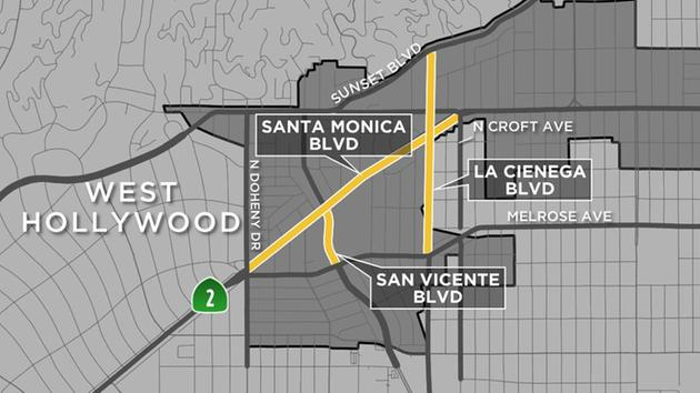 west hollywood halloween carnaval 2016 road closures abc7