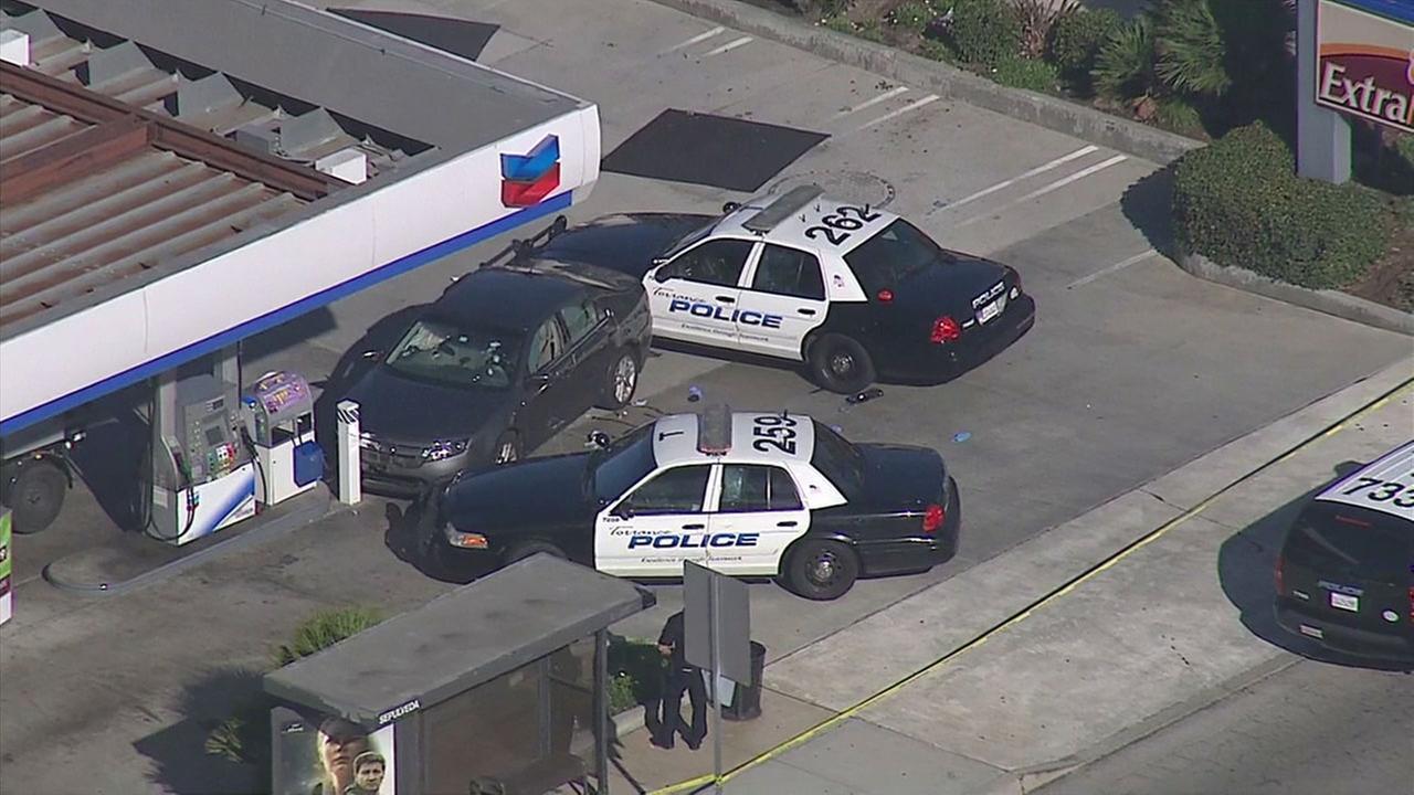 Torrnace police shoot dead DUI suspect in vehicle pursuit