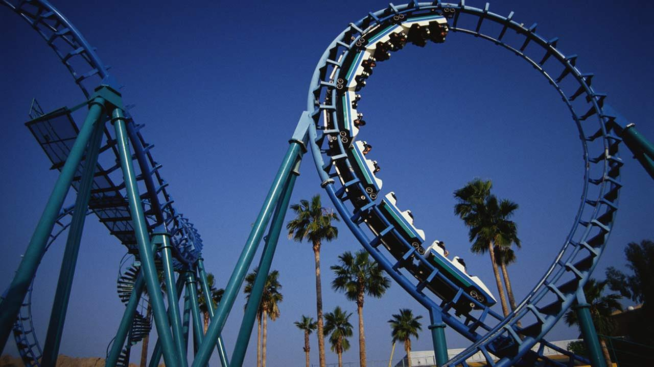The Montezumas Revenge ride is seen in this file photo taken at Knotts Berry Farm in Buena Park, California.