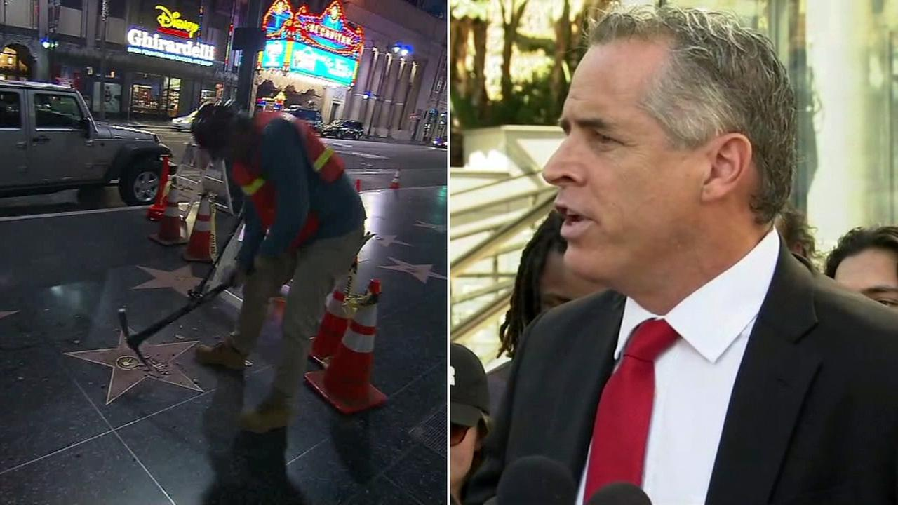 James Otis, the man who admitted to smashing Donald Trumps star on the Hollywood Walk of Fame, announced on Friday, Nov. 4, 2016, he would sue the Hollywood Chamber of Commerce.