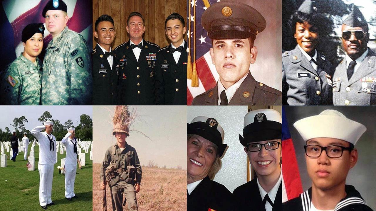 ABC7 viewers share photos of veterans with #abc7salutes