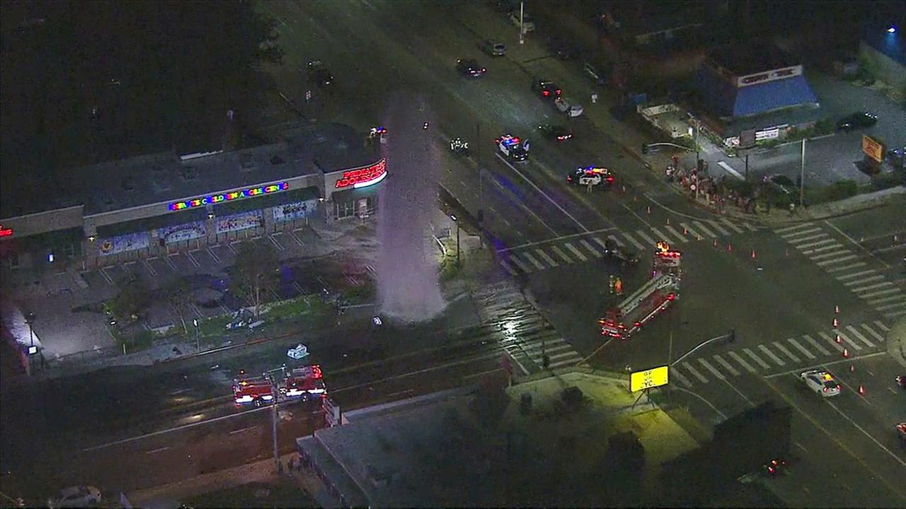 Two people were killed and another injured after a violent crash in West Hills on Sunday, Nov. 13, 2016, according to the Los Angeles Fire Department.