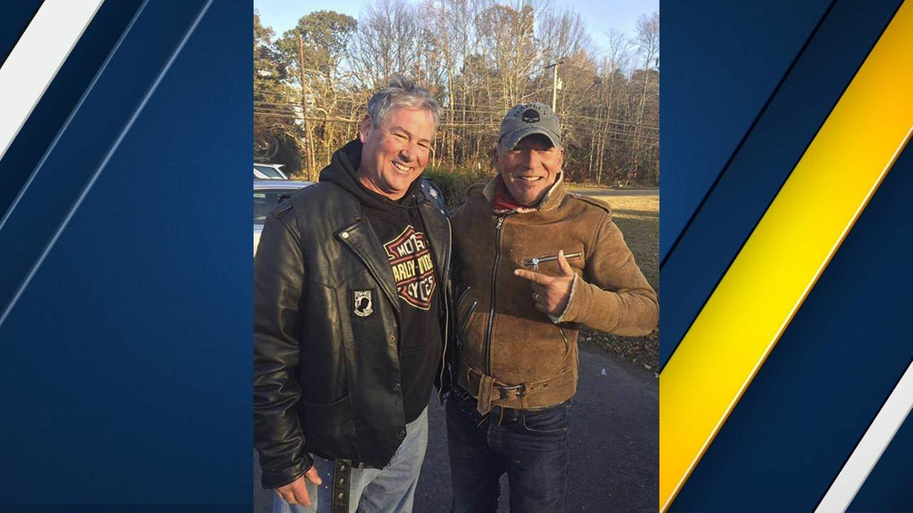 In this Friday, Nov. 11, 2016, photo provided by Ryan Bailey, Dan Barkalow, left, and Bruce Springsteen poses for a photo in Wall Township, N.J.