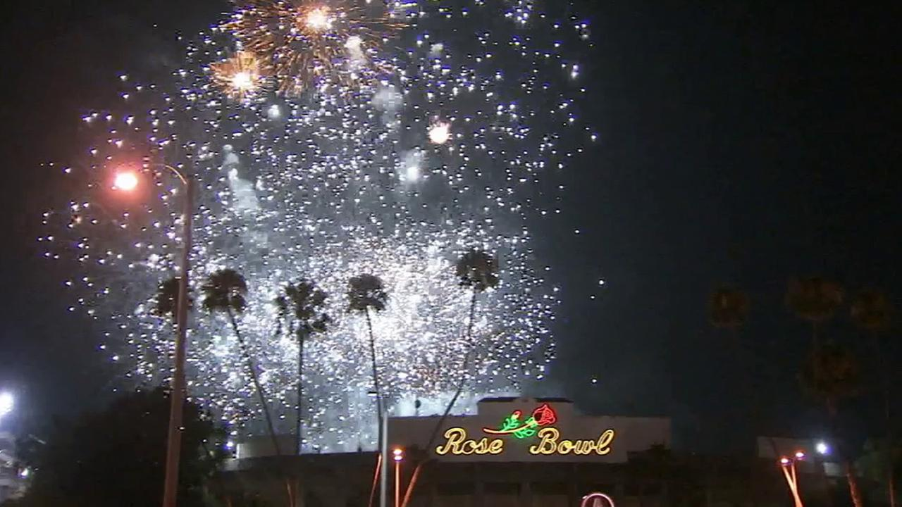 Fireworks blast off into the night sky at Americafest at the Rose Bowl in Pasadena on Friday, July 4, 2014.