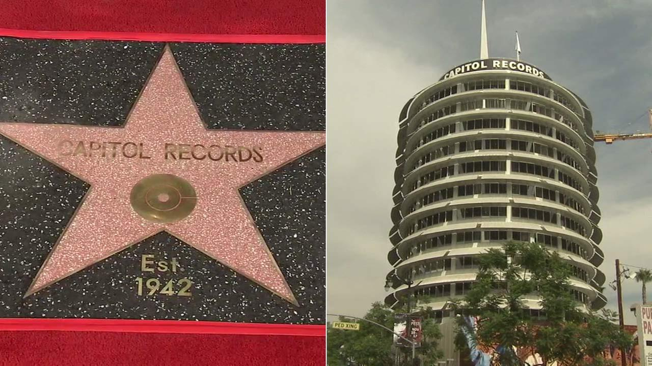 Capitol Records received a Star of Recognition from the Hollywood Chamber of Commerce on Tuesday, Nov. 15, 2016.