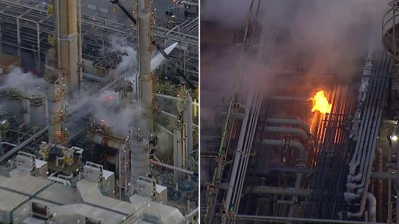 Crews battled a fire at the Torrance refinery on Tuesday, Nov. 15, 2016.