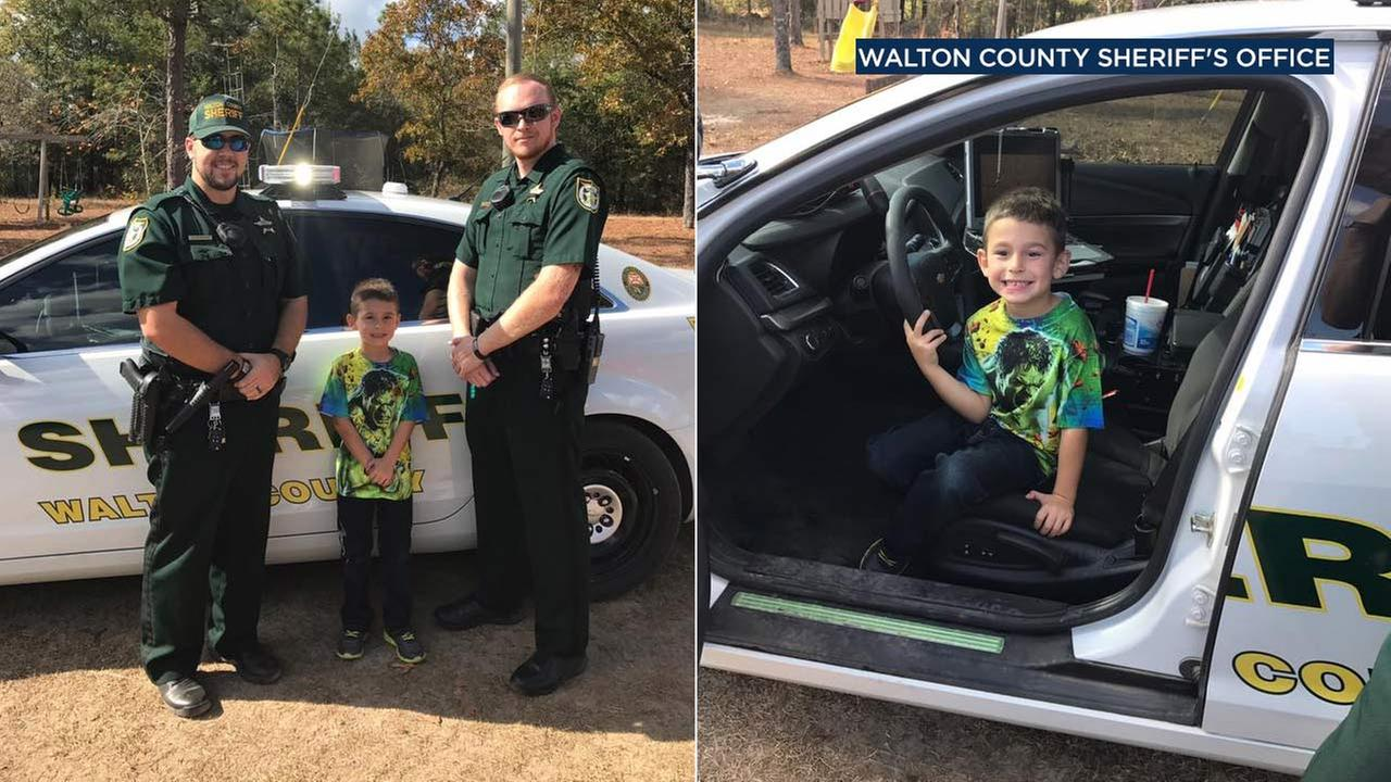 Billy, a boy from Walton County, Florida, is seen in photos posted by Walton County Sheriff Michael A. Adkinson on Facebook.
