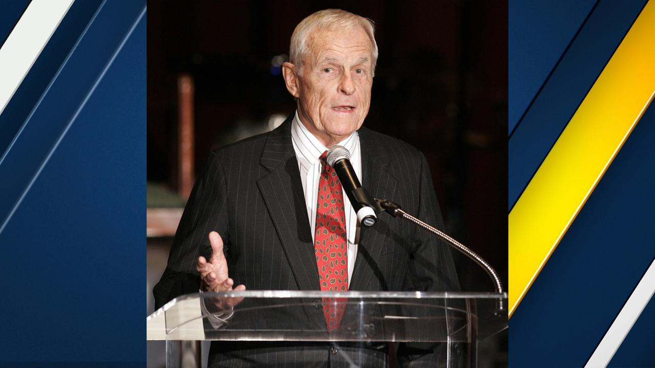 In this 2006 file photo, Grant Tinker, co-founder of MTM Enterprises and a former NBC chairman, speaks in Beverly Hills.
