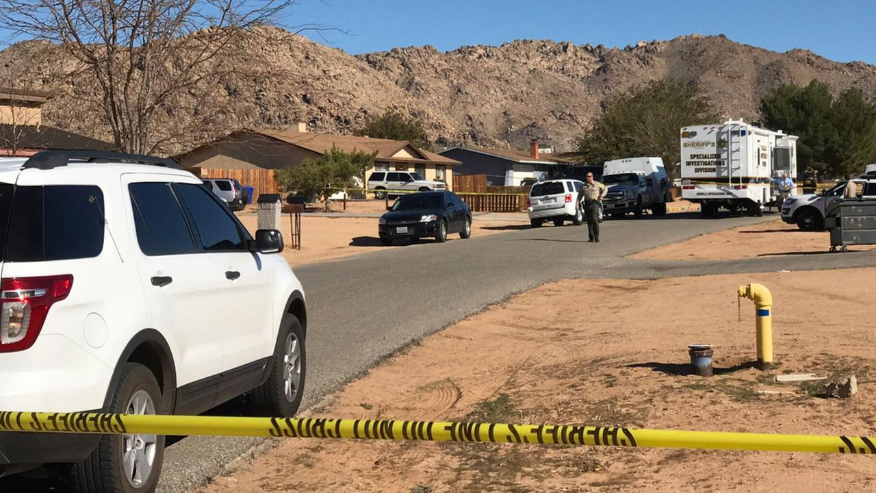 A residential street was closed after an intruder was shot and killed at a home in Apple Valley on Wednesday, Nov. 30, 2016.