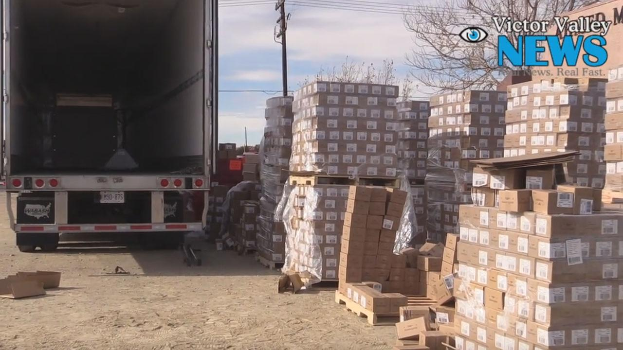 A photo shows the back of a semi-truck that was loaded with boxes containing heroin. The truck was on its way to Canada before authorities made the bust on Thursday, Dec. 1, 2016.