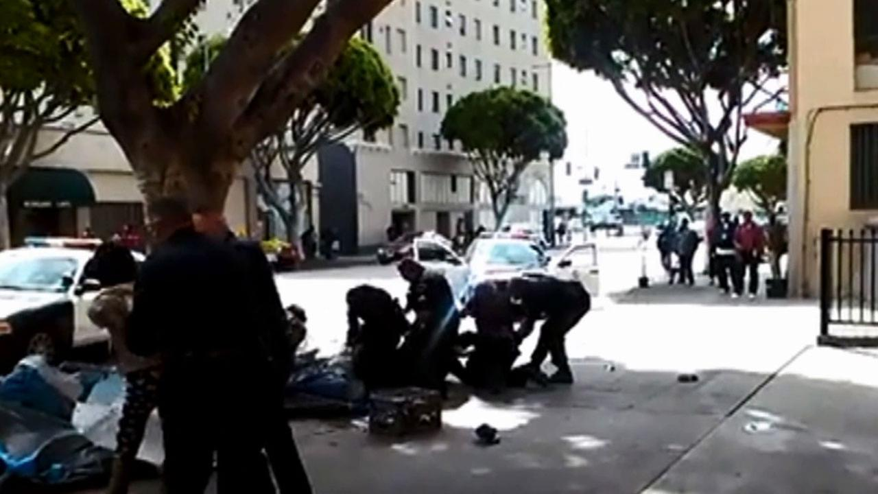 Video captured on Skid Row shows the March 1, 2015, fatal shooting of Charly Keunang.