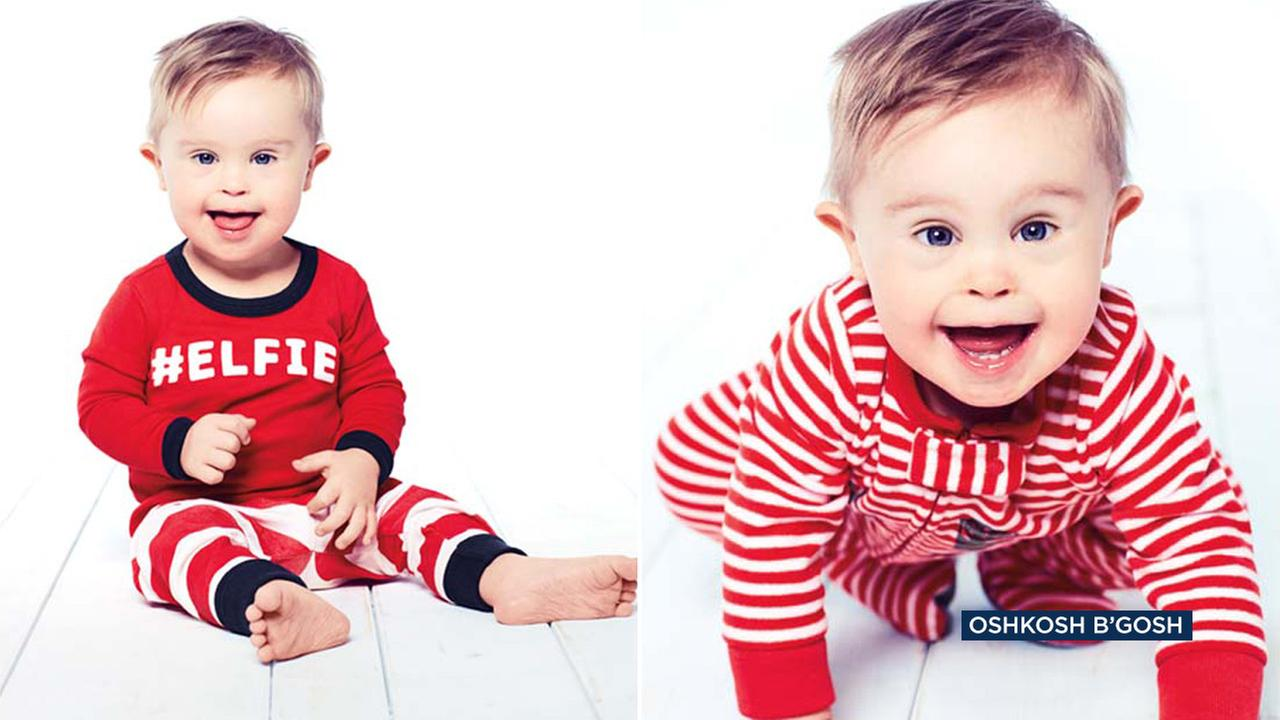 Asher Nash, a toddler with Down syndrome, is starring in the OshKosh BGosh holiday campaign.