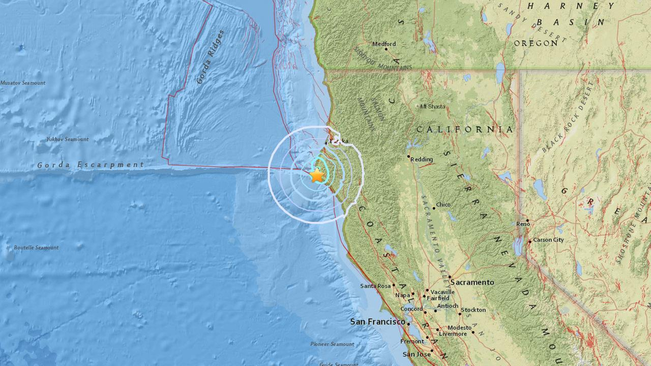 43 earthquake strikes off Northern California coast abc30com