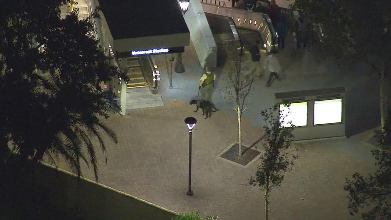 Law enforcement deployed K-9s and other increased security measures at the Universal City Metro Red Line station after a terrorist threat was received from abroad.