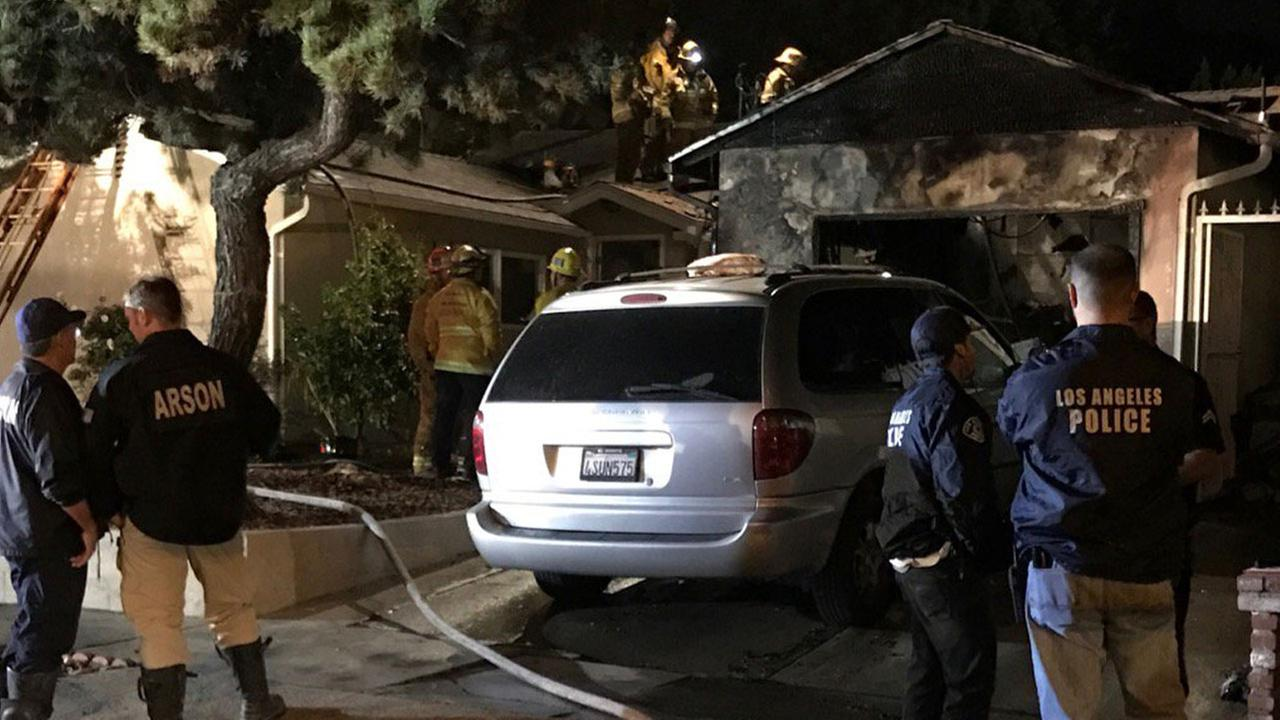 Authorities investigated a home that erupted in flames from a possible honey oil lab explosion in Sun Valley on Wednesday, Dec. 7, 2016.